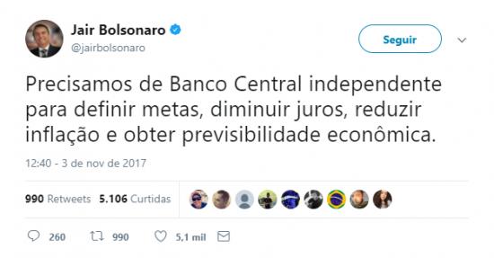 Resultado de imagem para tweets bolsonaro